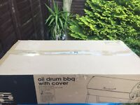 UNBOXED oil drum BBQ £25 rrp £49.99
