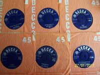 A COLLECTION OF 48 DECCA VINYL SINGLES 1960's