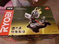 Ryobi Ems190dcl One+ 18v Cordless Mitre Saw, 190MM, Bare Unit, Body only,