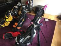 Junior kids golf bags and golf clubs sets