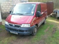 FIAT DUCATO 2003 VAN ,75600 MILES ONLY ,SWB , 2.0 JTD , 1 PREVIOUS OWNER , FOR SPARES OR REPAIRS ,