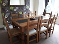 solid pine dining table and chairs for sale with or without matching dresser