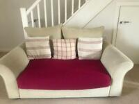 2 x Collins & Hayes Sofas, Cushions/Throws