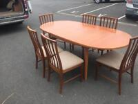 Dining Table & 6 Chairs by McIntosh