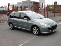 Peugeot 307 SW 2.0 HDi SE 5dr MOT May 2018 130840 Miles Clutch and Flywheel Changed (77328 Miles)