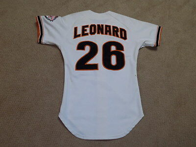 1f9bc1a83 Jeffrey Hac Man Leonard Game Worn Jersey 1984 San Francisco Giants