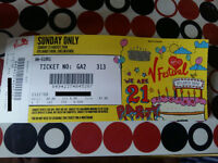 One spare V Festival ticket for this Sunday @ Hylands Park, Chelmsford. Only £80