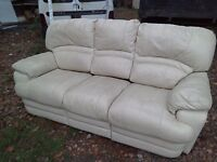 3 seater & armchair. Recliners.