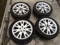 Renault 5 Stud Set of 4 Alloy wheels 2 very good tyres may fit vivaro