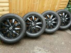 "16"" mint condition clio scenic Megan alloy wheels and new tyres"