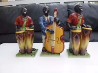 House Clearance Three Black Men China Figurines