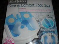 Babyliss Foot Spa Used Once Excellent Condition with box