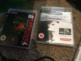PS3 Silent Hill Classic HD and Mwtakgears solid 7