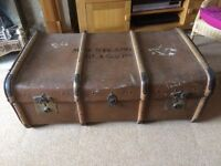Antique travel trunk by RW Forsyth