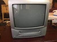Matsui 14 inch colour tv with video recorder built in