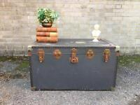 LARGE Vintage TRUNK CHEST FREE DELIVERY STORAGE BOX COFFEE TABLE