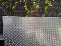 3 pieces aluminium tread chequer kick plate