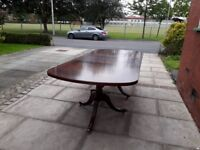 Top quality mahogany dining table,