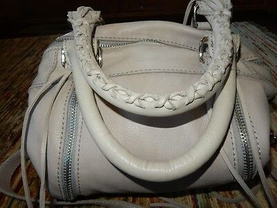 Linea Pelle Gray Alex Zip Speedy Satchel Shoulder Bag ECU Mint Condition
