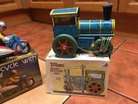 """Tin toys """" with boxes"""