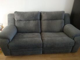 DFS 3 seater manual recliner sofa