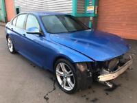 2013 63 BMW 3 SERIES 320D M SPORT F30 AUTO, BLUE, FSH, DAMAGED/SALVAGE/REPAIRABLE, PX