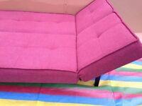 John Lewis Duo Sofa Bed,Pale Pink Fabric, Width 195cm, RRP £399