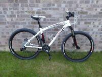 Specialized Hardrock mountain bike with disc brakes, medium size (17 inch) frame