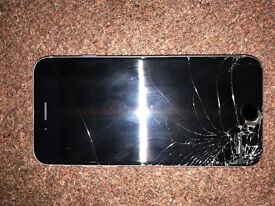 16gb iPhone 6, perfect working condition, smashed screen