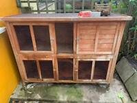 2 tiered rabbit hutch and accessories