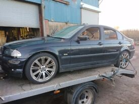 2001 BMW 318i E46 saloon Black m43b19 BREAKING FOR SPARES PARTS