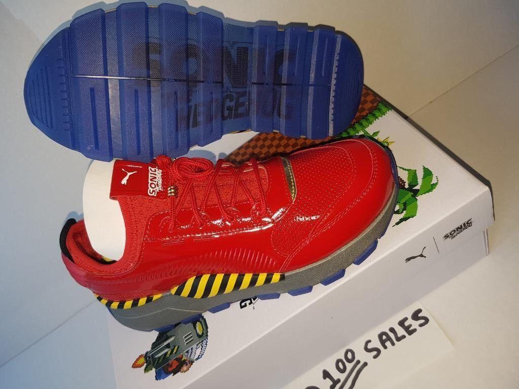 742dc3c08ff0 Puma RS x Sega Sonic The Hedgehog BOSS ROBOTNIK Dr Eggman RED Patent  Leather UK5.5 EU38.5 100sales