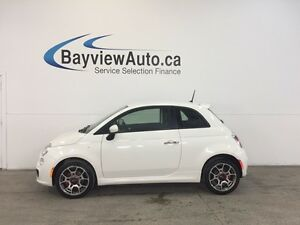 2015 Fiat 500 SPORT-TURBO! AUTO! ALLOYS! A/C! BLUETOOTH! CRUISE!