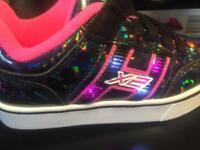 Brand new light up x2 Heelys size 13