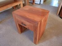 Solid Wood Side Table With Draw