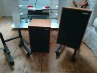 Rogers speakers with original stands