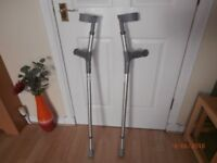 Grey Elbow Crutches in 'as new' condition - fully adjustable