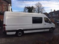 Mercedes Benz Sprinter 311 CDI LWB, Band Crew Cab Van. 9 Seater with table, fridge, excel condition