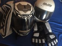 Box helmet with bag medium like new mint condition £20