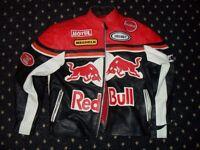 Red Bull medium sized leather motorcycle jacket