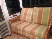 Conservatory cane furniture 2 seater and a chair