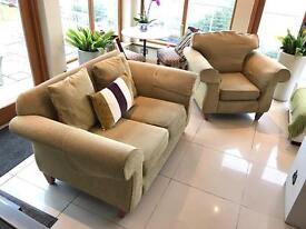Two piece sofa - two seater and chair