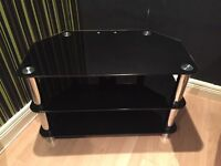 Black and silver glass tv stand. Pick up only.