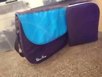 Blue silver cross bag