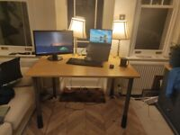 Office Desk - Great Condition - Wood 120cm x 80cm x 75cm high