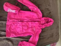 Pink regatta pac a mac age 5/6