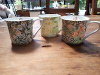 Set of 3 V & A Fine Bone China Mugs