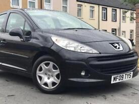 2009 ( 09 ) PEUGEOT 207 S 1397cc PETROL 5 DOOR IN BLACK*LOW MILES* FINANCE ANAILABLE*100% HPi CLEAR