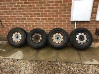 Fiat Scudo, Peugeot Expert steel wheels nearly new tyres!