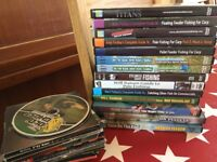 A collection on fishing DVD's